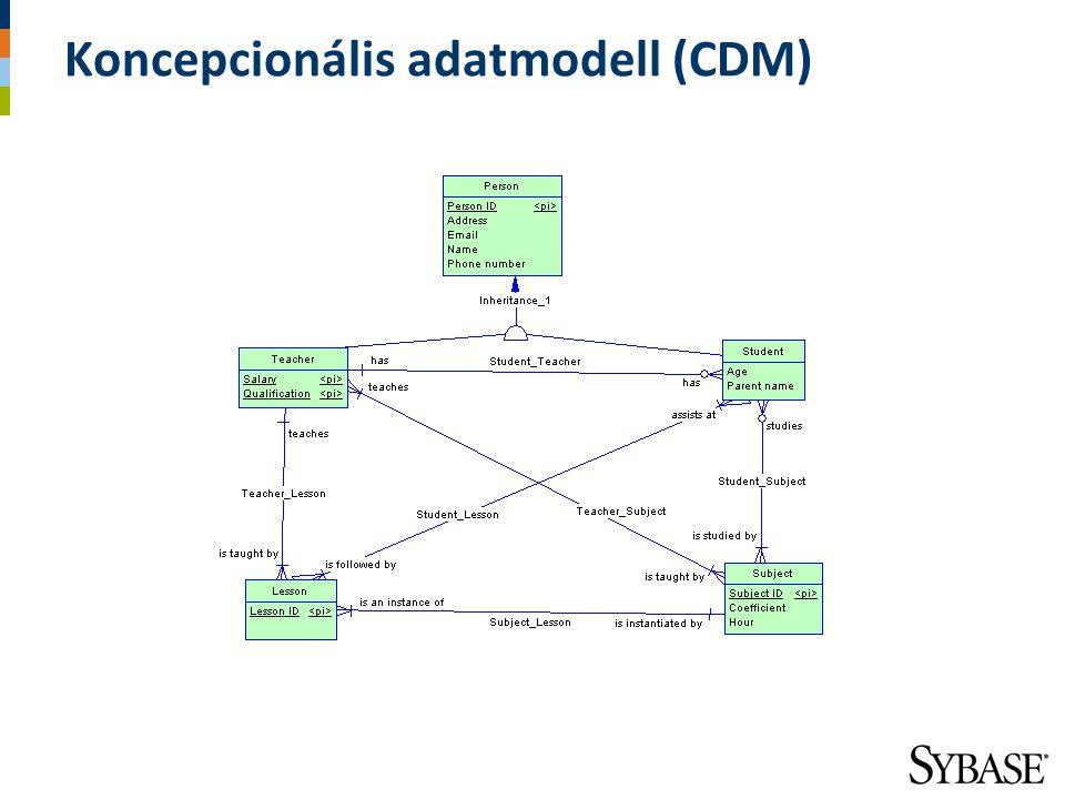 Koncepcionális adatmodell (CDM)
