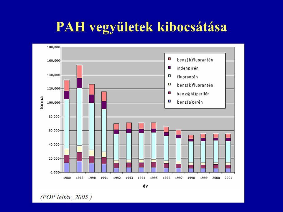 PAH vegyületek kibocsátása