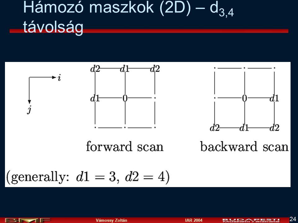 Vámossy Zoltán IAR 2004 24 Hámozó maszkok (2D) – d 3,4 távolság