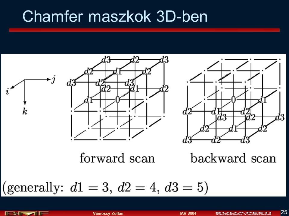 Vámossy Zoltán IAR 2004 25 Chamfer maszkok 3D-ben