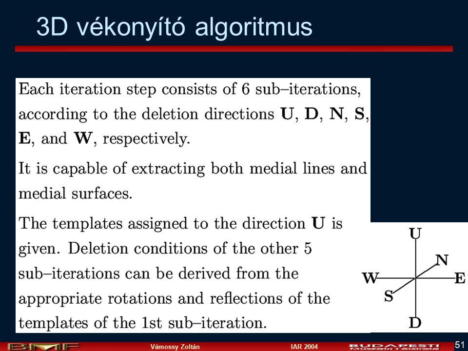 Vámossy Zoltán IAR 2004 51 3D vékonyító algoritmus