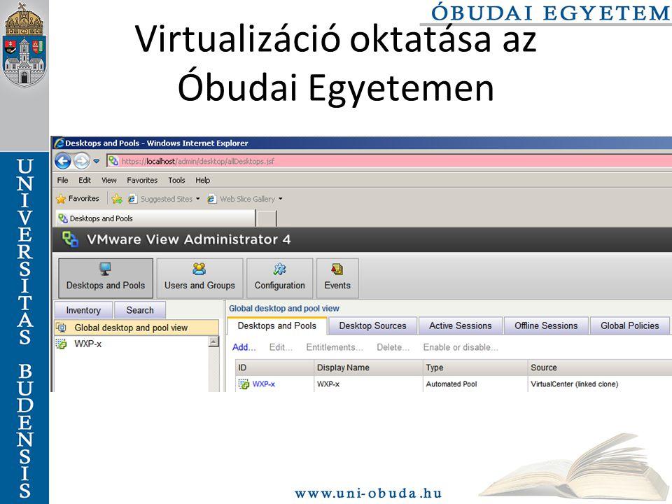 Virtualizáció oktatása az Óbudai Egyetemen