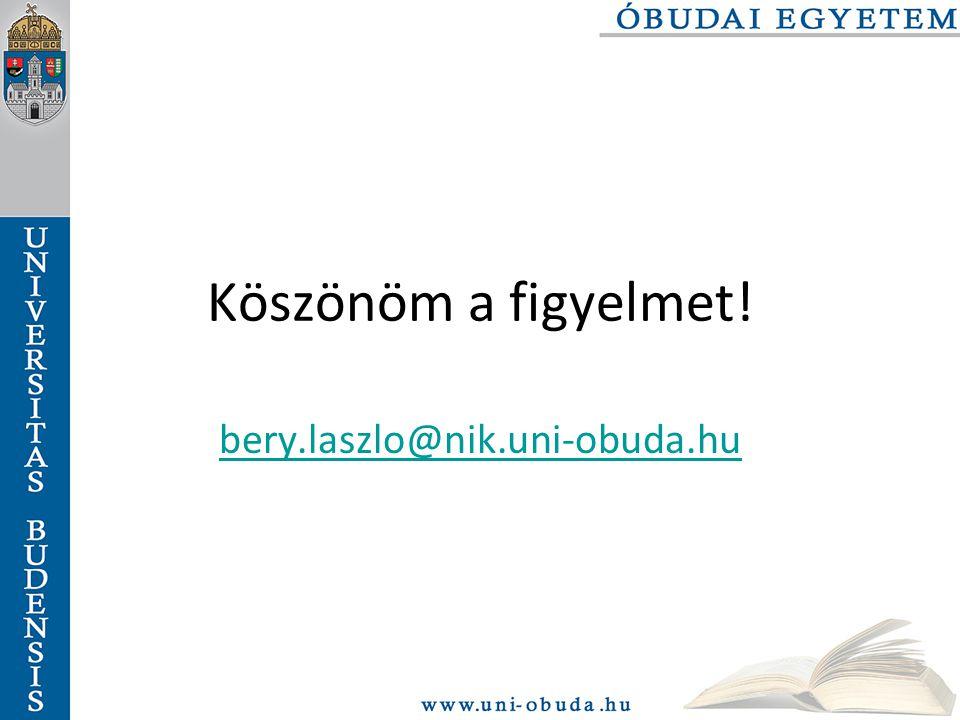 Köszönöm a figyelmet! bery.laszlo@nik.uni-obuda.hu