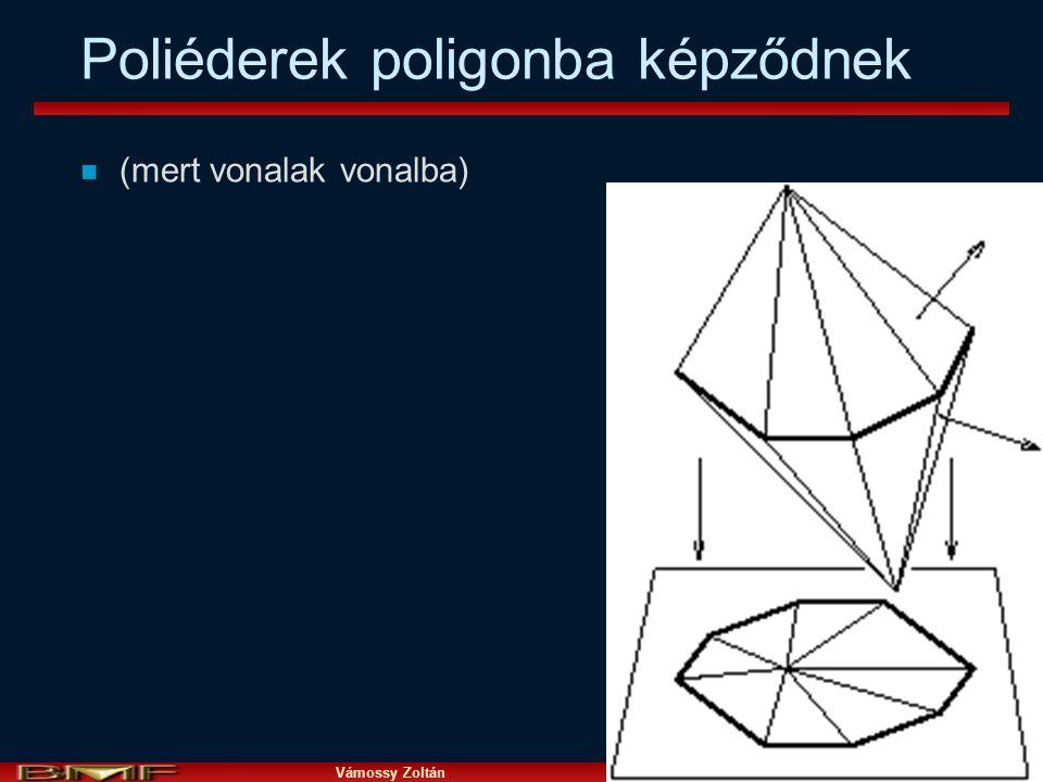Vámossy Zoltán IAR 2004 24 Poliéderek poligonba képződnek n (mert vonalak vonalba)