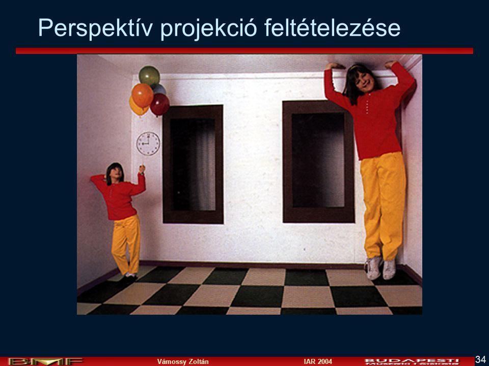 Vámossy Zoltán IAR 2004 34 Perspektív projekció feltételezése
