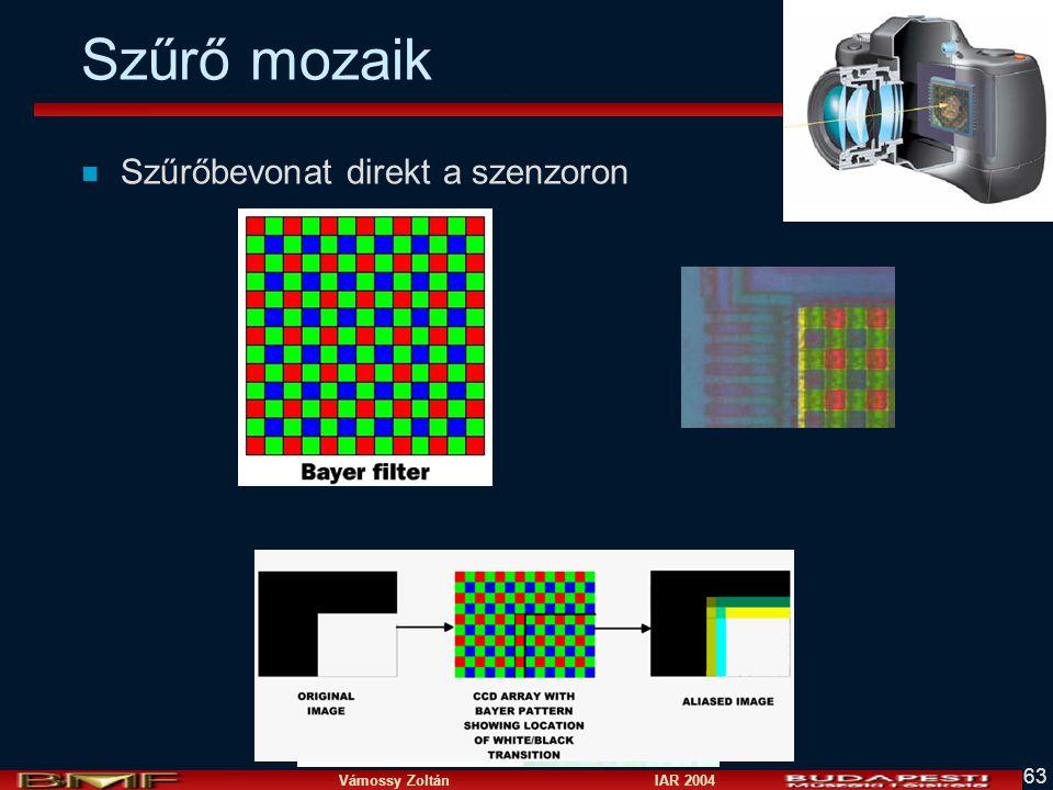 Vámossy Zoltán IAR 2004 63 Szűrő mozaik n Szűrőbevonat direkt a szenzoron