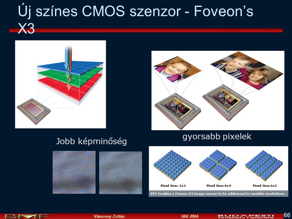 Vámossy Zoltán IAR 2004 66 Új színes CMOS szenzor - Foveon's X3 Jobb képminőség gyorsabb pixelek