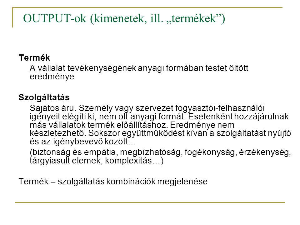OUTPUT-ok (kimenetek, ill.