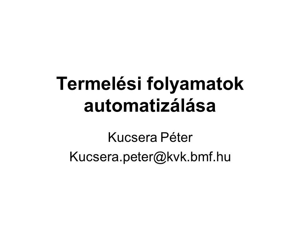 Termelési folyamatok automatizálása Kucsera Péter Kucsera.peter@kvk.bmf.hu