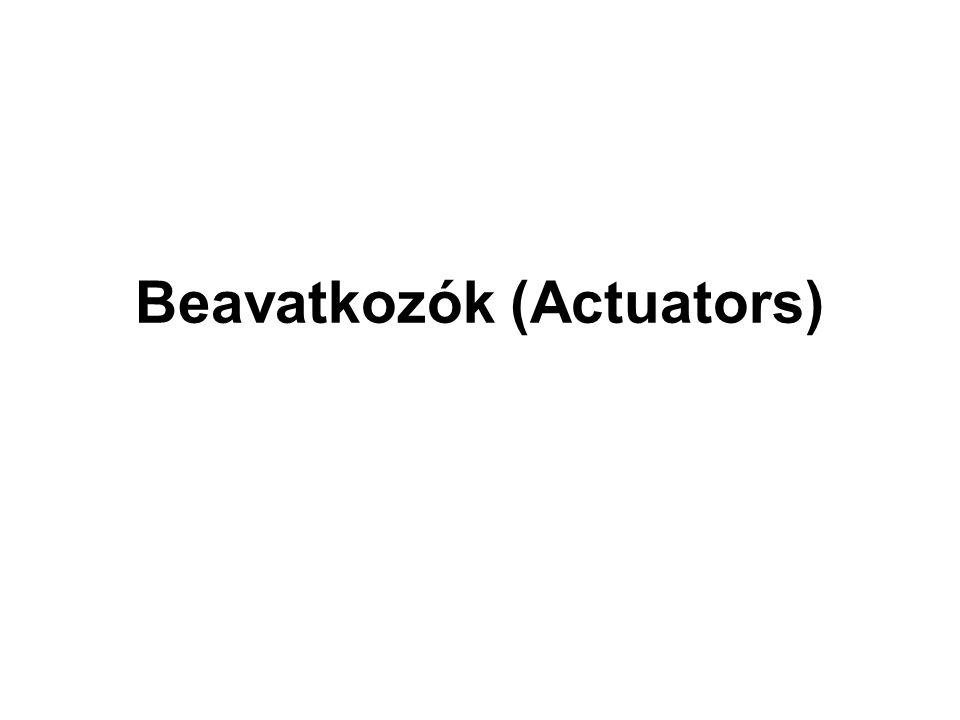 Beavatkozók (Actuators)