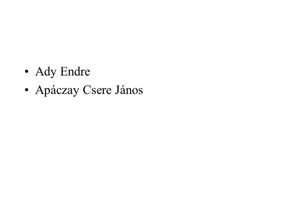 Ady Endre Apáczay Csere János