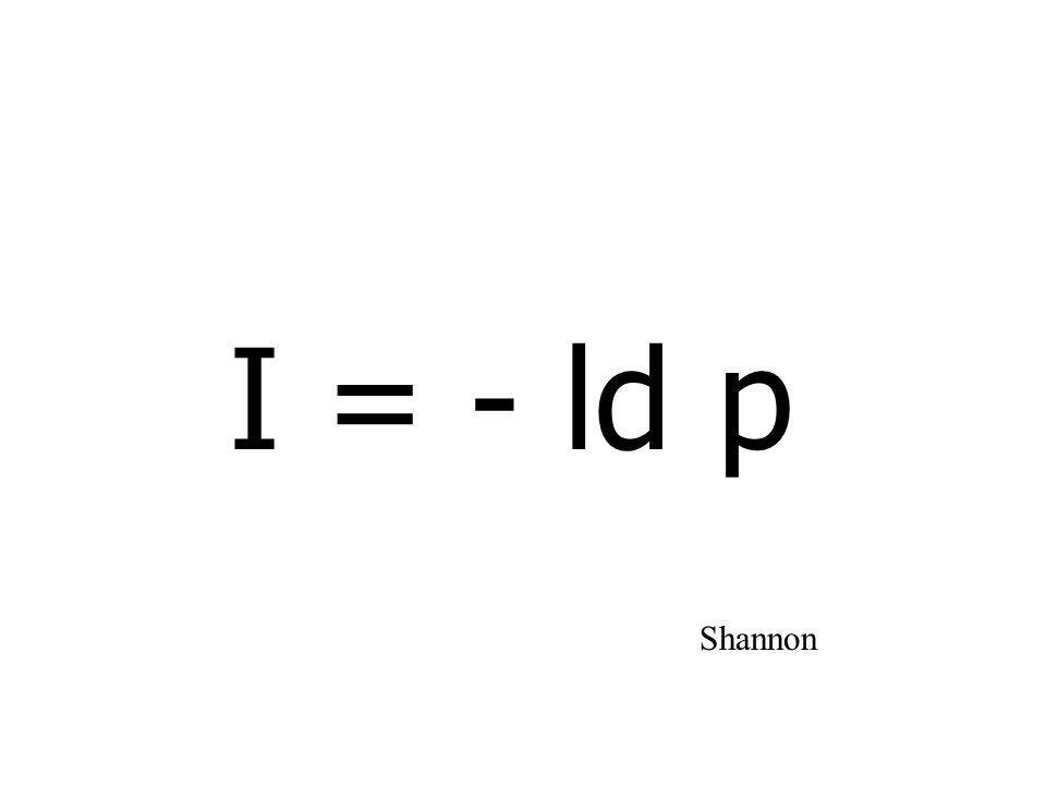 I = - ld p Shannon