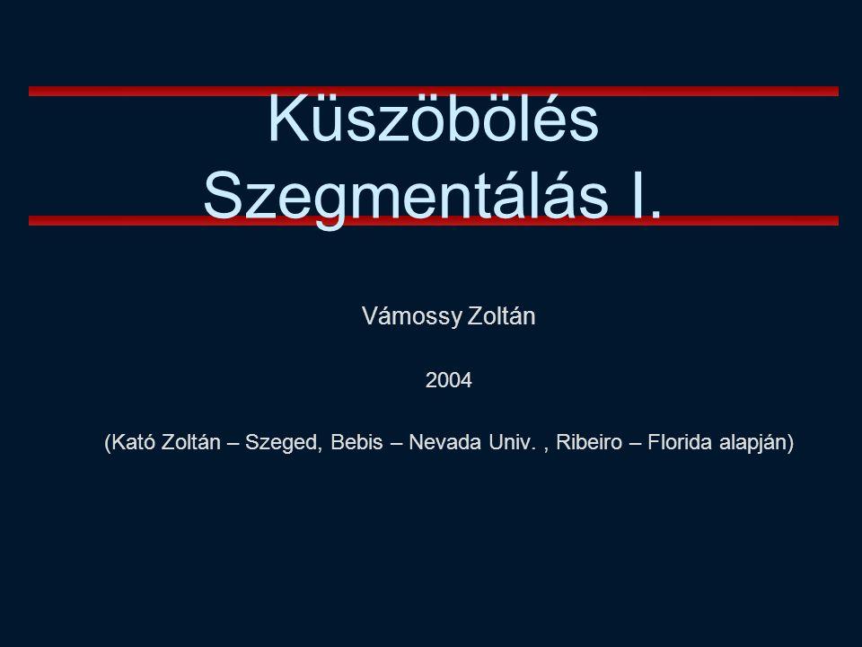 Vámossy Zoltán 2004 (Kató Zoltán – Szeged, Bebis – Nevada Univ., Ribeiro – Florida alapján) Küszöbölés Szegmentálás I.