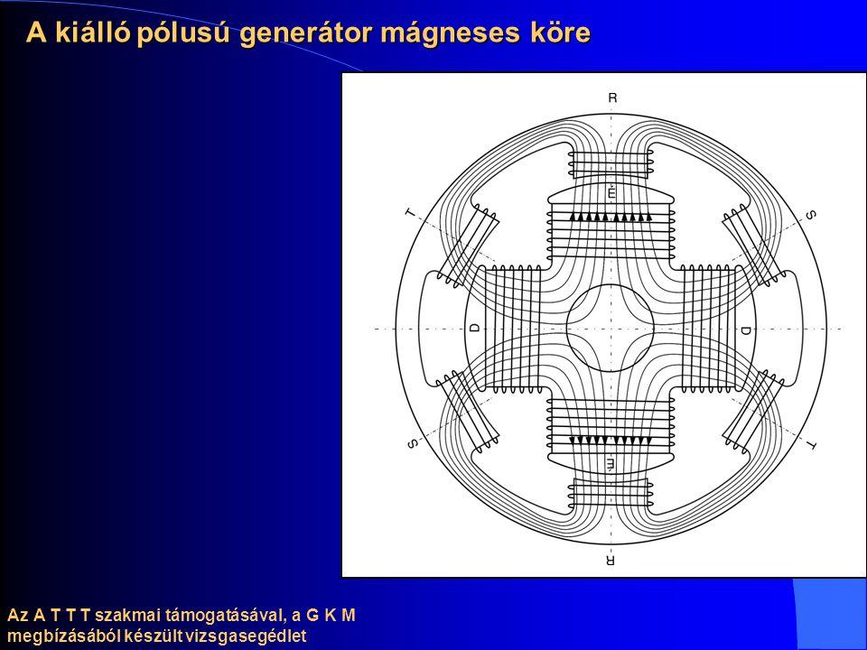 Az A T T T szakmai támogatásával, a G K M megbízásából készült vizsgasegédlet A kiálló pólusú generátor mágneses köre