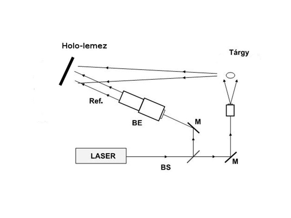 A hagyományos és a digitális holografikus méréstechnika valamint az ESPI alkalmazásának előnyei és korlátai Előnyök:---------- Diffúz tárgyakról is lehet hologramot készíteni.