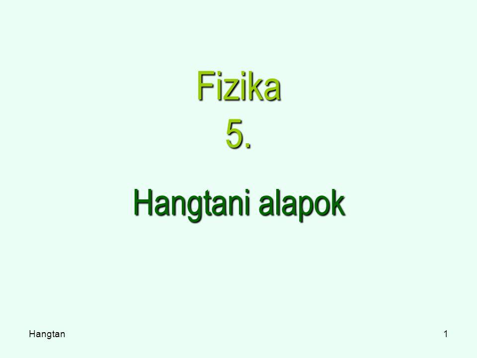 Hangtan1 Fizika 5. Hangtani alapok