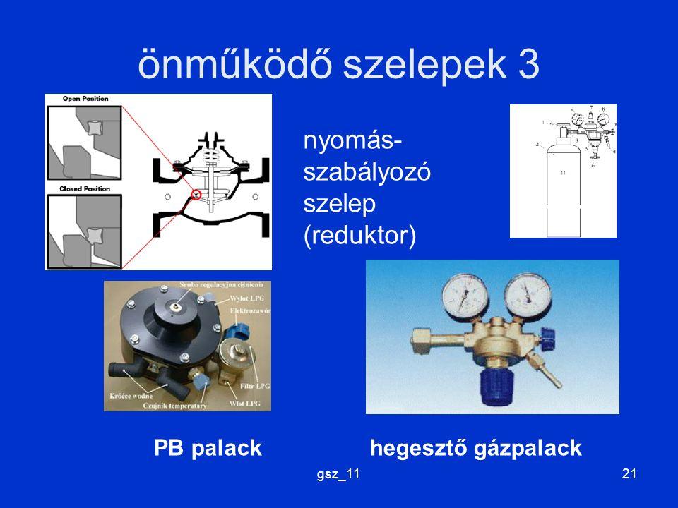 gsz_1121 önműködő szelepek 3 nyomás- szabályozó szelep (reduktor) PB palack hegesztő gázpalack