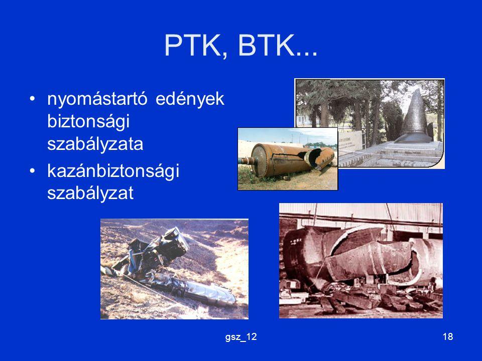 gsz_1218 PTK, BTK... nyomástartó edények biztonsági szabályzata kazánbiztonsági szabályzat