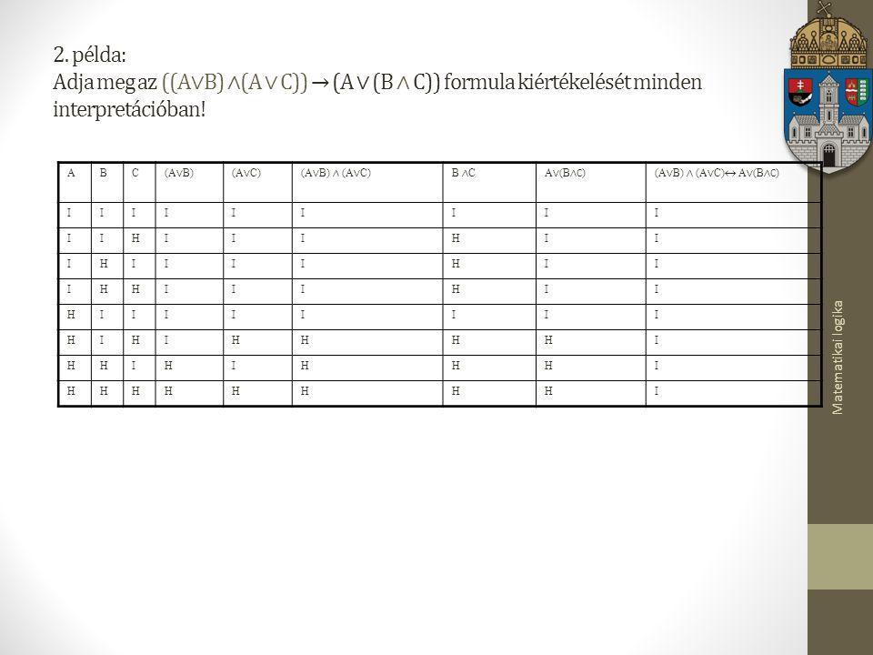 Matematikai logika 2.