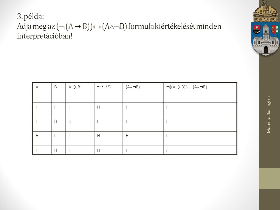 Matematikai logika 3.