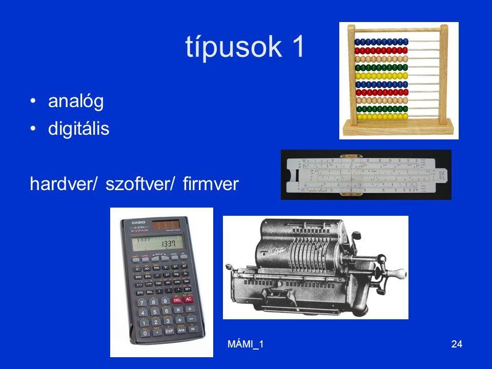 MÁMI_124 típusok 1 analóg digitális hardver/ szoftver/ firmver