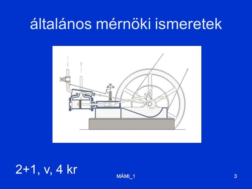 MÁMI_13 általános mérnöki ismeretek 2+1, v, 4 kr