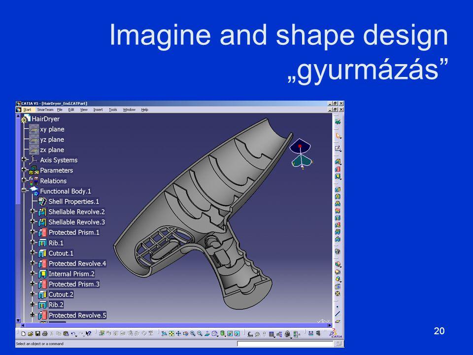 """Imagine and shape design """"gyurmázás"""" MÁMI_tervezés20"""