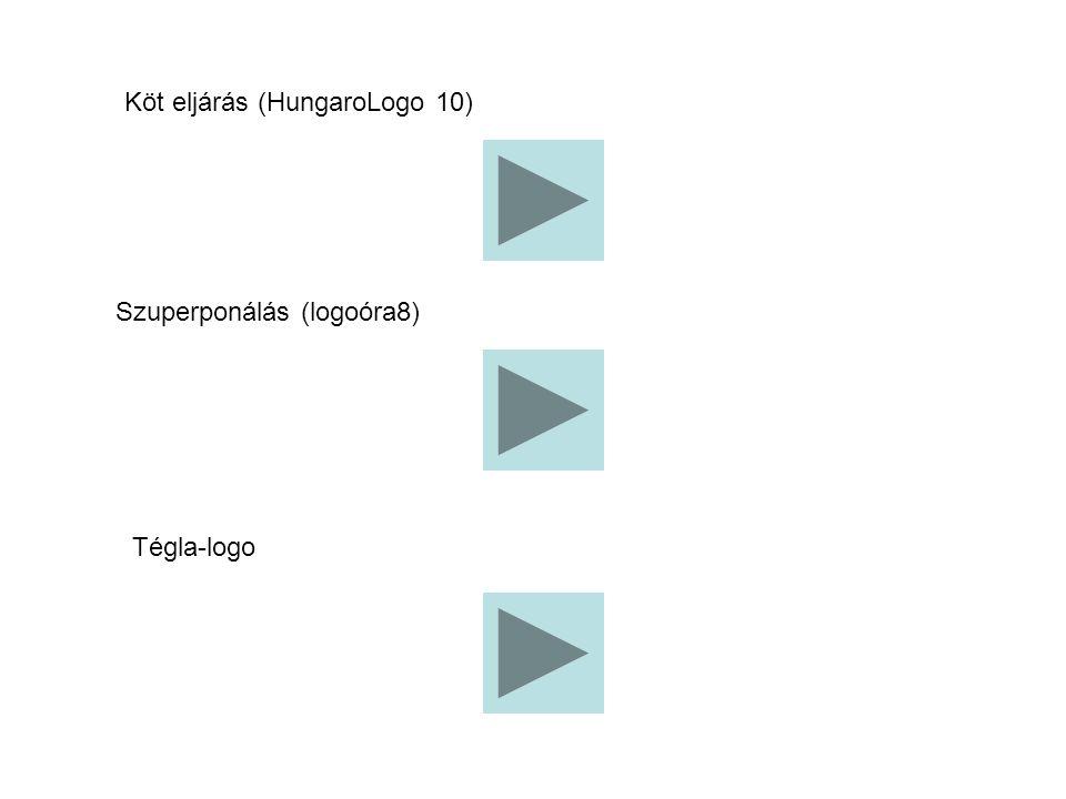 Köt eljárás (HungaroLogo 10) Szuperponálás (logoóra8) Tégla-logo