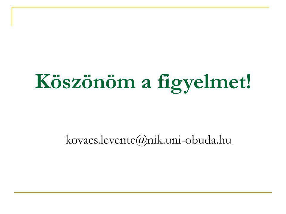 Köszönöm a figyelmet! kovacs.levente@nik.uni-obuda.hu