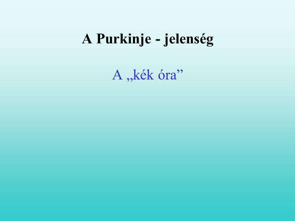 "A Purkinje - jelenség A ""kék óra"""