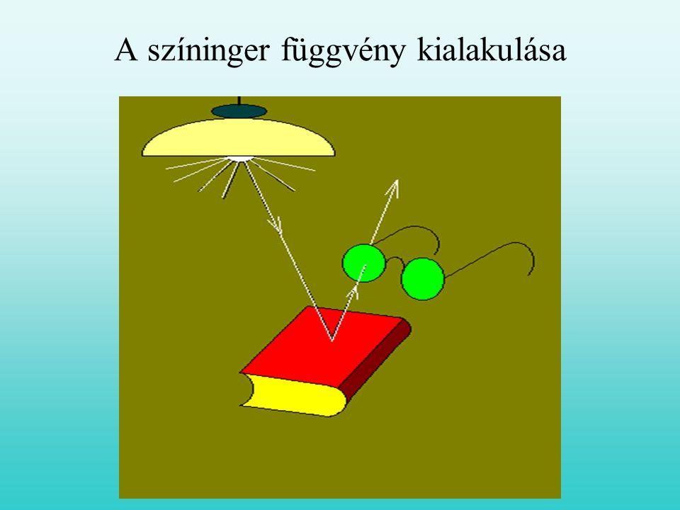 A színinger függvény kialakulása
