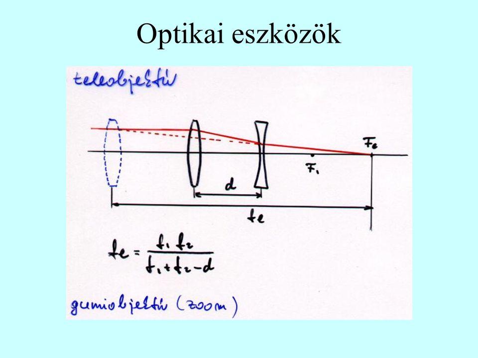 Távcsövek Galiei-féle távcső Newton-féle Cassegrain-féle