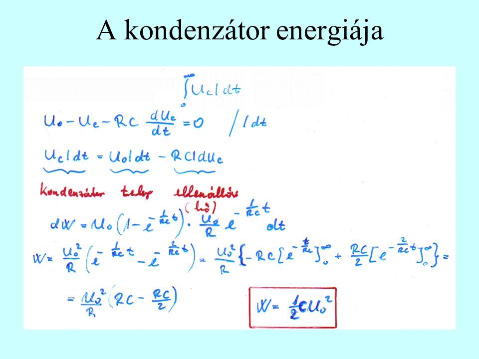 A kondenzátor energiája