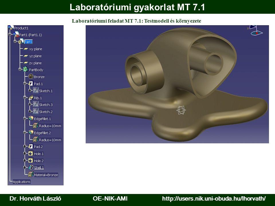Laboratóriumi gyakorlat MT 7.1 Laboratóriumi feladat MT 7.1: Testmodell és környezete