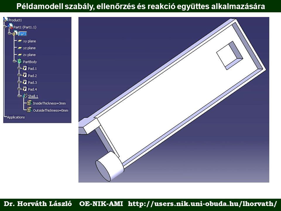 Példamodell szabály, ellenőrzés és reakció együttes alkalmazására Dr.