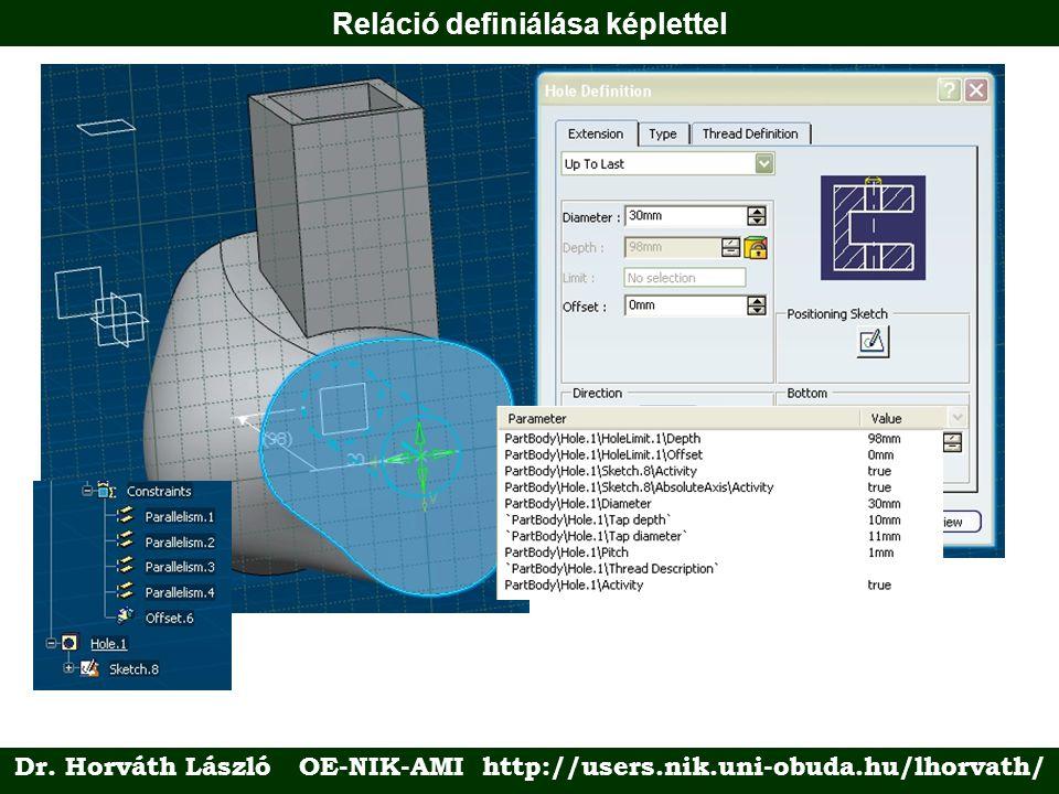 Reláció definiálása képlettel Dr. Horváth László OE-NIK-AMI http://users.nik.uni-obuda.hu/lhorvath/