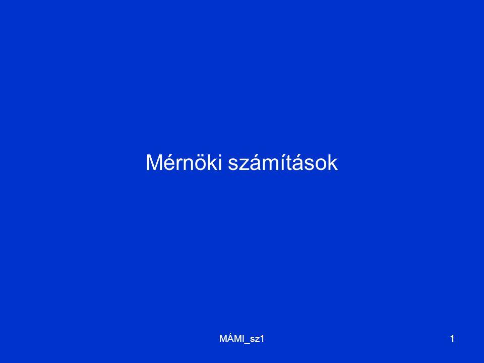 MÁMI_sz111 Mérnöki számítások