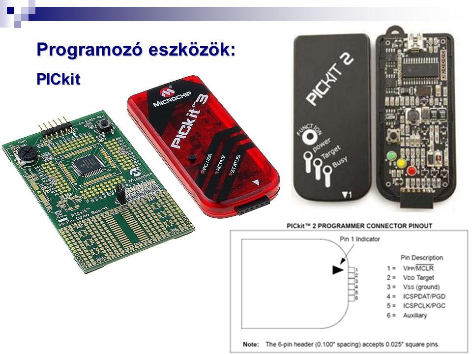 Programozó eszközök: PICkit
