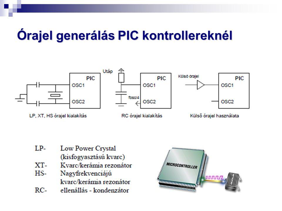 Órajel generálás PIC kontrollereknél