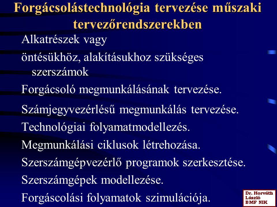 Forgácsolástechnológiai folyamat modellje