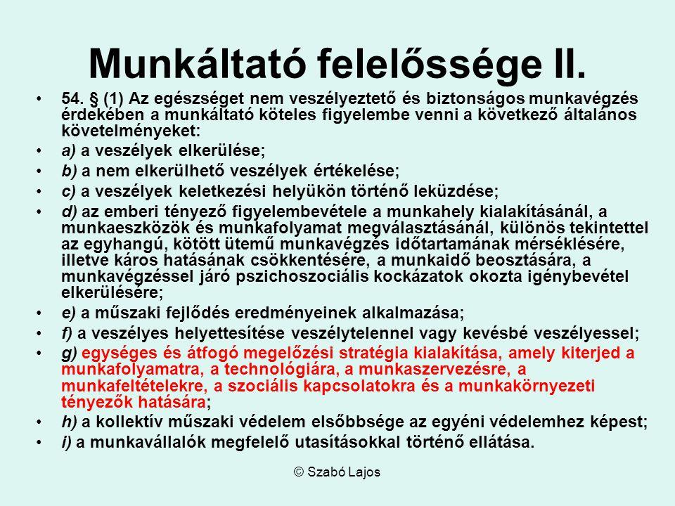 © Szabó Lajos Munkáltató felelőssége II. 54.