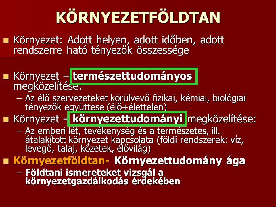 Rétegvíz- termálvíz- ásványvíz Vízzáró rétegek közötti vizek Vízzáró rétegek közötti vizek Geotermikus viszonyok Magyarországon: Geotermikus viszonyok Magyarországon: –100 méterenként kb.