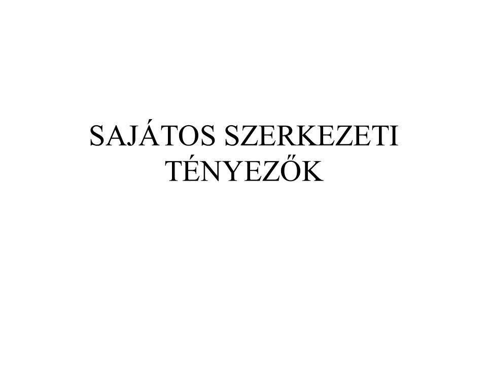 SAJÁTOS SZERKEZETI TÉNYEZŐK