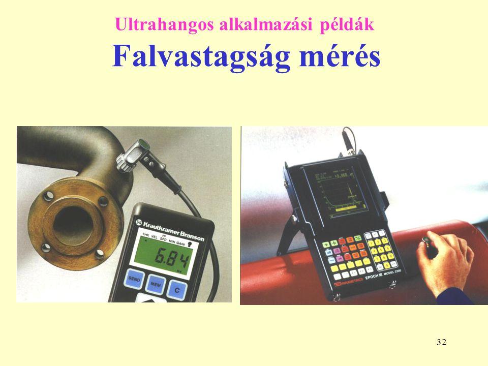 32 Ultrahangos alkalmazási példák Falvastagság mérés