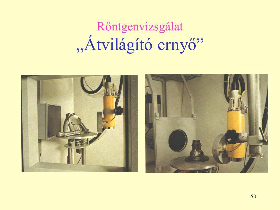 """50 Röntgenvizsgálat """"Átvilágító ernyő"""