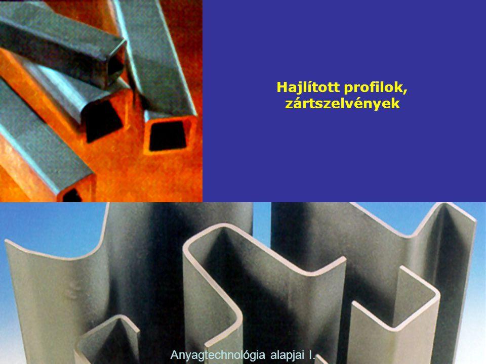 Hajlított profilok, zártszelvények Anyagtechnológia alapjai I.