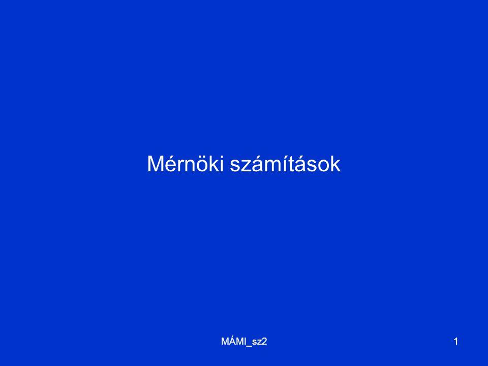 MÁMI_sz211 Mérnöki számítások