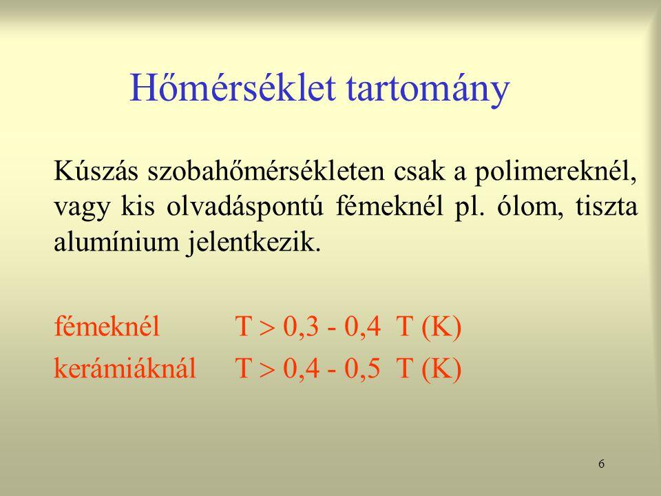 37 Acél és fémcsövek alakíthatósági vizsgálatai Peremező próba Peremezéssel beépített csövek pl.