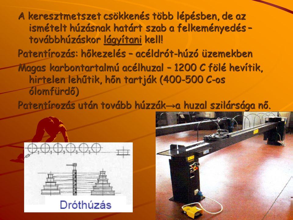 Víz alatti szikrakisüléses lemezalakítás: - elektrohidraulikus alakítás, - kisebb alkatrészek esetén, - tömeggyártásban is gazdaságos.