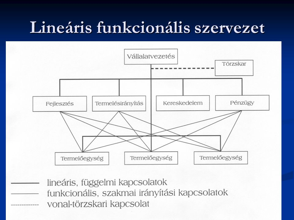 Lineáris funkcionális szervezet